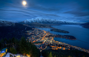 """Photo: New Zealand Adventure - Day 1 After getting settled in a resting for a bit after the long flight, +Trey Ratcliff and I headed up the gondola in Queenstown to capture this amazing view. We then went down to this really old, rustic building which now houses this incredible pizza called """"The Cow"""". There we joined our families for food and fun. I'm so thankful for this time I'm getting to spend here and really excited to bring you along by sharing the photos with you."""