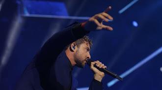 David Bisbal, durante un concierto.