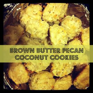 Brown Butter Pecan Coconut Cookies Recipe