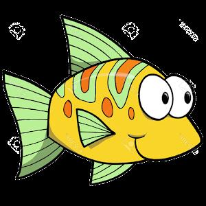 Картинки смешных мультяшных рыб, яблочным спасом