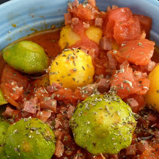 Patty Pan Squash with Prosciutto