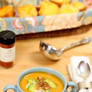 Butternut Squash, Potato and Roasted Pepper Soup.