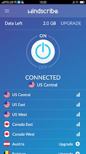 Windscribe VPN - náhled