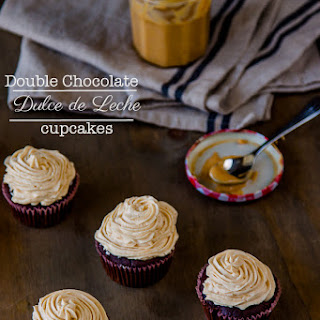 Double Chocolate Dulce de Leche Cupcakes