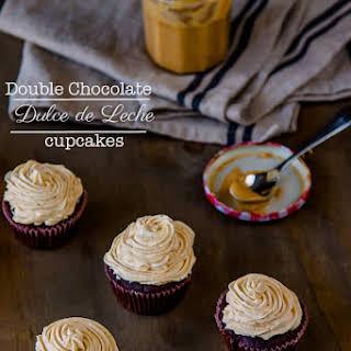 Double Chocolate Dulce de Leche Cupcakes.