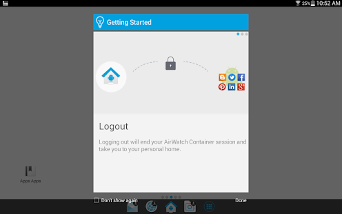 AirWatch Container- screenshot thumbnail