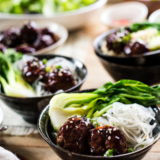 Spicy Korean-style Meatball Bowl.