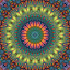 Seeking Serenity by Lyle Hatch - Illustration Abstract & Patterns ( balance, kaleidoscope, serenity, zen, harmony, tranquility, symmetry, geometric, mandala )