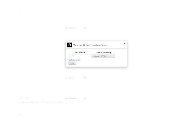 Webpage Default Encoding Changer
