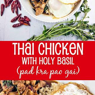 Thai Chicken with Holy Basil (pad kra pao gai).