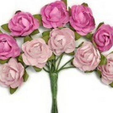 KC-Mini Paper Blooms(Fuchsia)