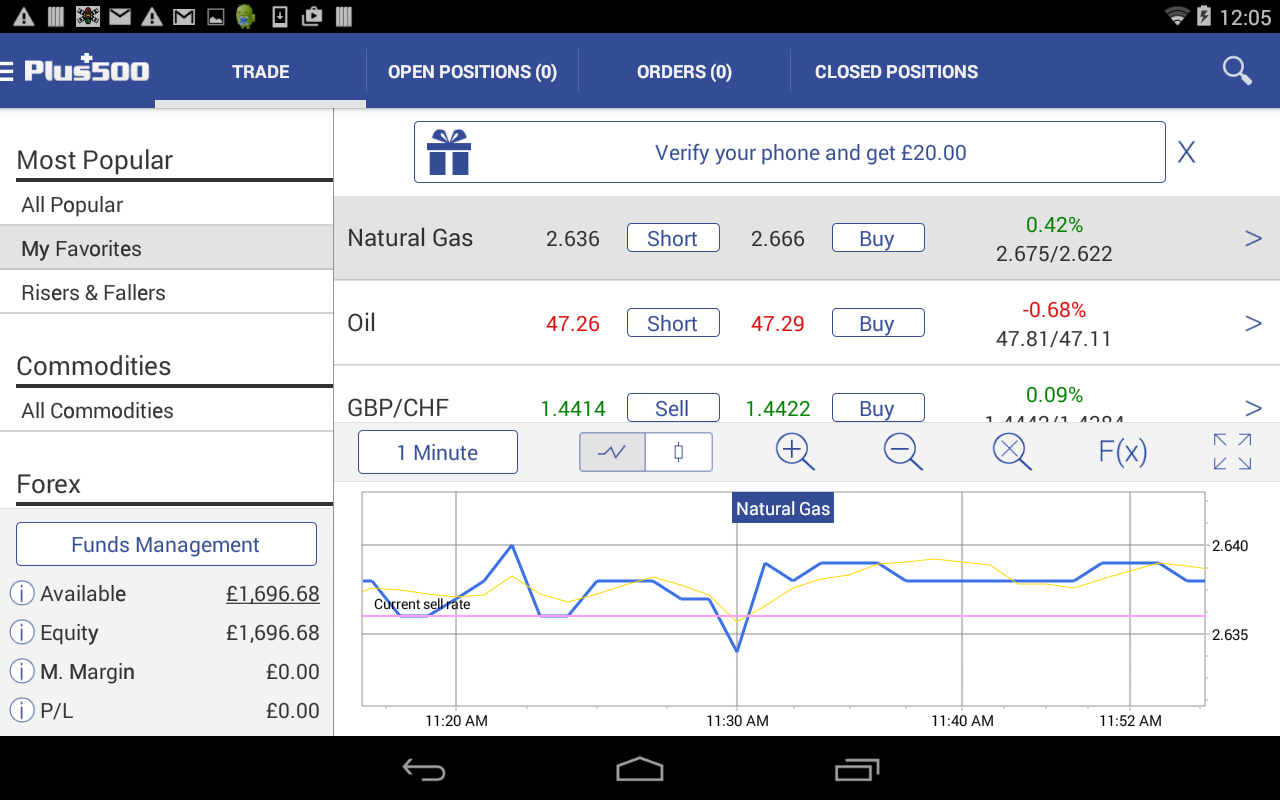Plus500 Online Trading- screenshot