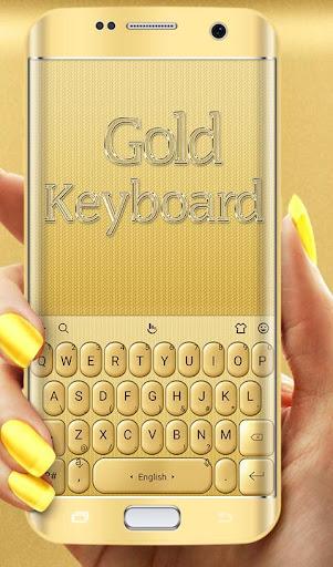 3D Gold Keyboard Theme screenshots 1
