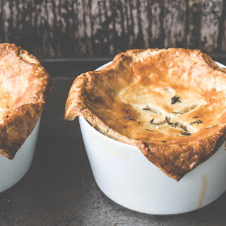 Caramelized Onion, Thyme And Bean Pot Pies.