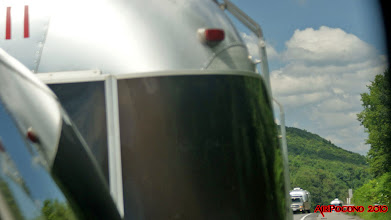 Photo: the little caravan moves down the Interstate