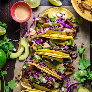 Mushroom Carnitas Tacos.