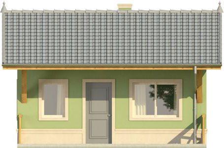 Domek 1 - Elewacja przednia