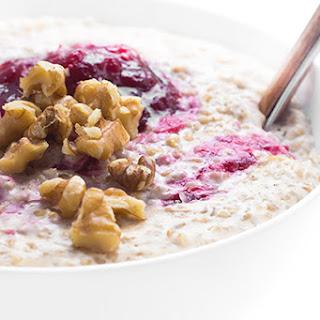 Cranberries and Cream Steel Cut Oats Recipe