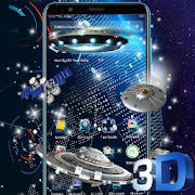 Download App Space Galaxy 3D Parallax Launcher Theme👽