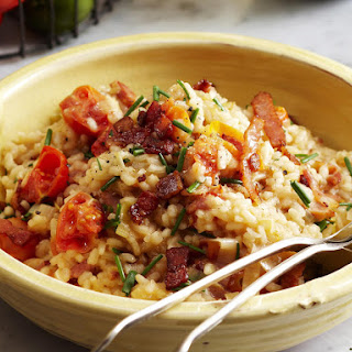 Bacon, Leek and Tomato Risotto.