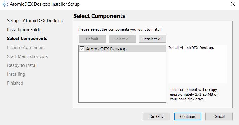 Install AtomicDEX 3