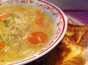 Savory Chicken and Rice Soup