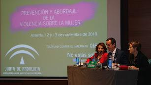 Ángeles Sepúlveda, José María Martín y Lourdes Molina en la inauguración