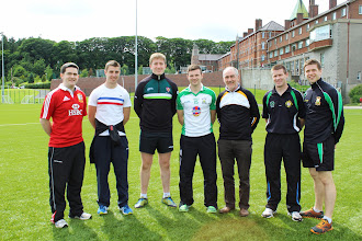 Photo: A great line up - Mark Harte, Ryan Boyle, Michael Cunningham, Donal O'Hare, Mickey Harte, Pádraig Hughes, Shea Mc Ardle