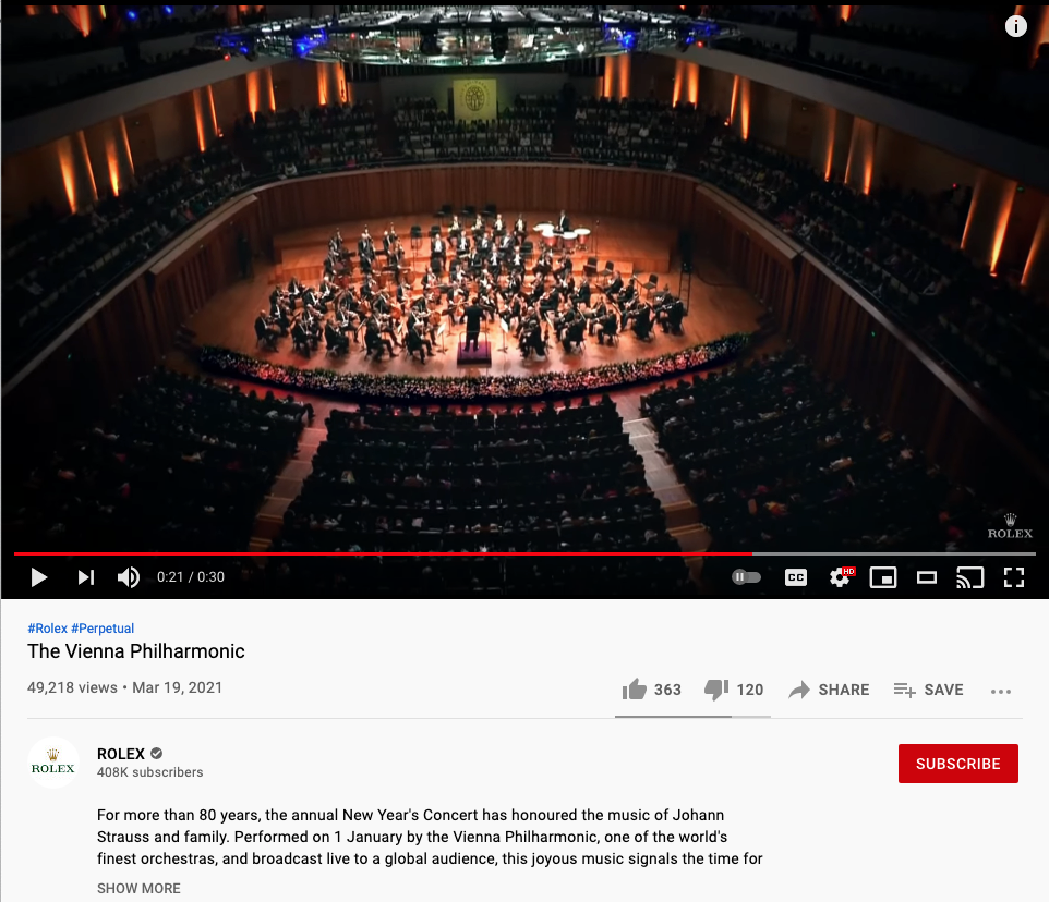 Rolex Video Example