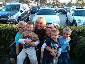 Photo: Grandkids on Grandma's Birthday