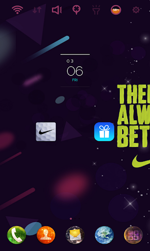 Nike Golf Universe theme