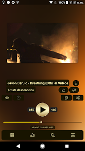 Poweramp v3 skin gold 1.0.3 MOD for Android 2