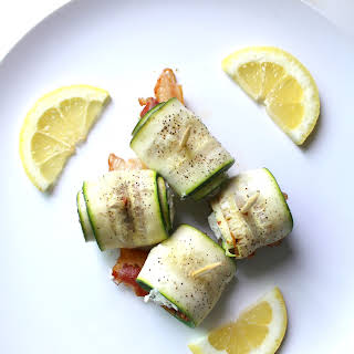ZUCCHINI BACON GOAT CHEESE ROLL UPS.