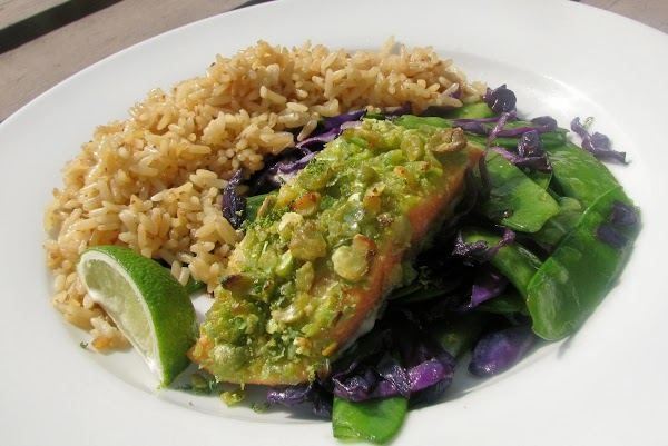 Crunchy Wasabi Salmon With Lime Recipe