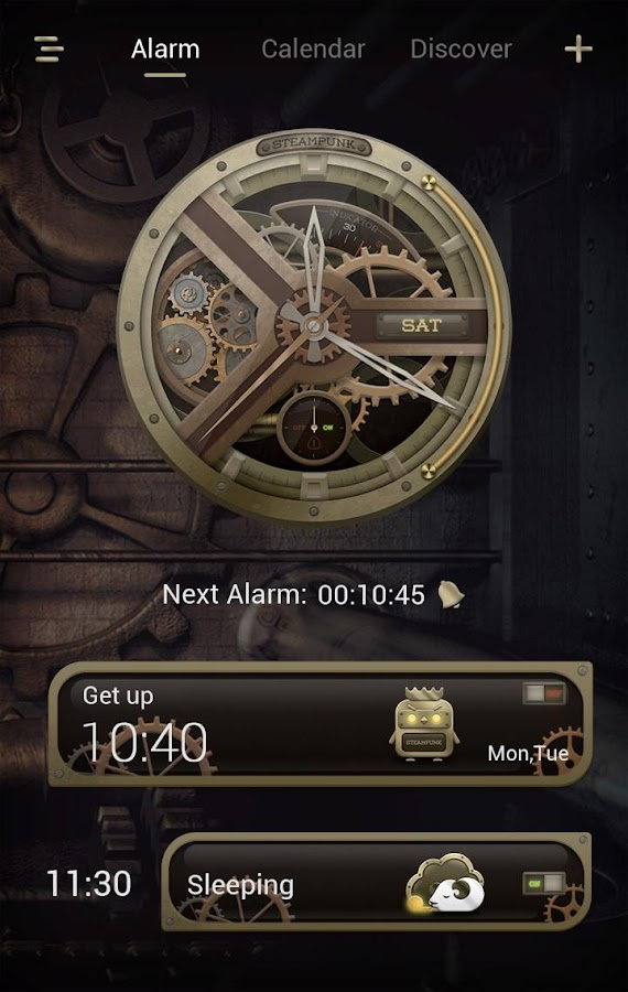 Steampunk GO Clock Themes- screenshot