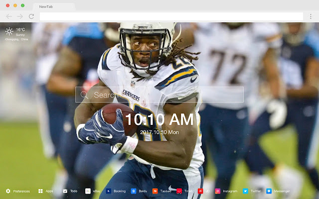 LA Chargers Top Rugby New Tab Page HD Themes