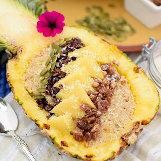 Coconut & Pineapple Quinoa Breakfast Bowl