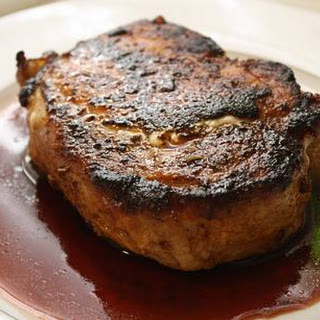 Oven Roasted Pork Steaks with Pomegranate Reduction