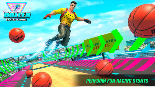 Sky Roller Skate Stunts Racing – Impossible Tracks apklade screenshots 2