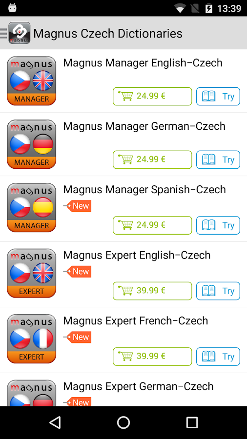 Czech Dictionaries Magnus- screenshot