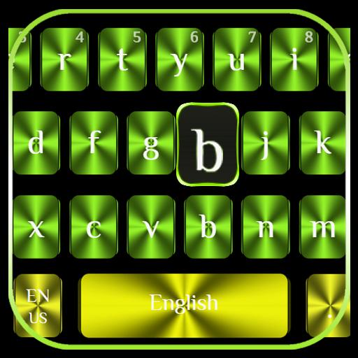 Cool Green Yellow Keyboard