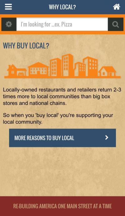 Buy Local Shopping App- screenshot