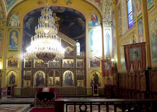 Photo: We visited an Orthodox cathedral with its many icons.