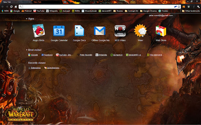 World of warcraft cataclysm theme chrome web store an unofficial world of warcraft cataclysm theme for google chrome gumiabroncs Gallery