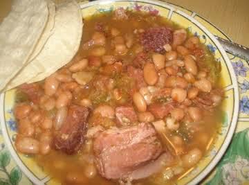 Mexican Charro Pinto Beans, Frijoles Charros Pintos