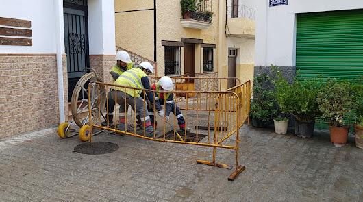 Serón completa el soterramiento de cableado eléctrico