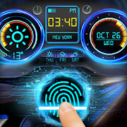Dashborad fingerprint style lock screen for prank