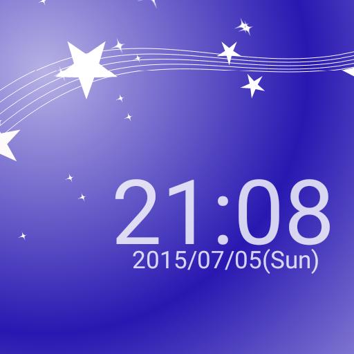 七夕 天の川イメージ 時計のライブ壁紙 個人化 App LOGO-硬是要APP