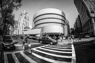 Photo: The Guggenheim Museum in New York City, taken in drier times.