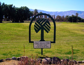 Photo: Golf course at Furnace Creek Ranch - the lowest grass course in the world